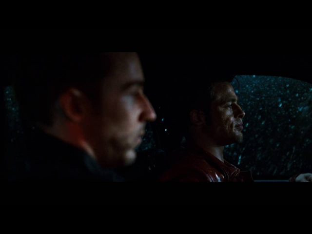 Fight club car crash scene
