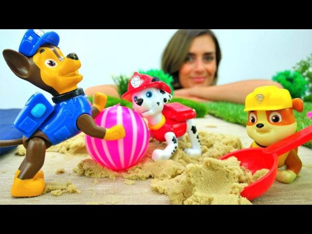 Paw Patrol Spiel 🐾 Wir spielen am Strand 🐩 und kneten mit PlayDoh 🎉 Paw Patrol auf Deutsch