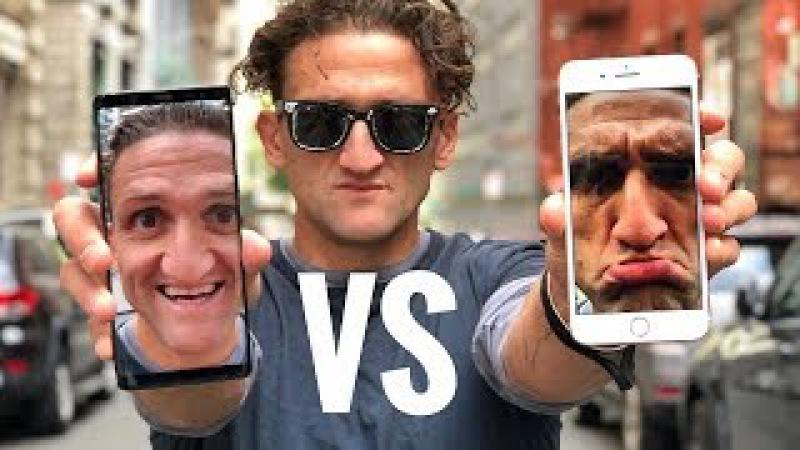 Сравнение камеры iPhone 8 и Samsung Note 8 Кейси Найстат на русском