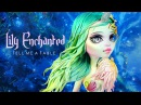 Doll Repaint Dry Molding Clay Monster High Lagoona Blue LILY ENCHANTED Unicorn Custom Doll OOAK