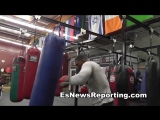Mike Perez cuban big man power speed Robert Garcia boxing - EsNews