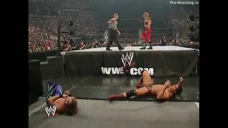 WWE SummerSlam 2003 - Eddie Guerrero vs Chris Benoit vs Rhyno vs Tajiri (WWE United States Championship)