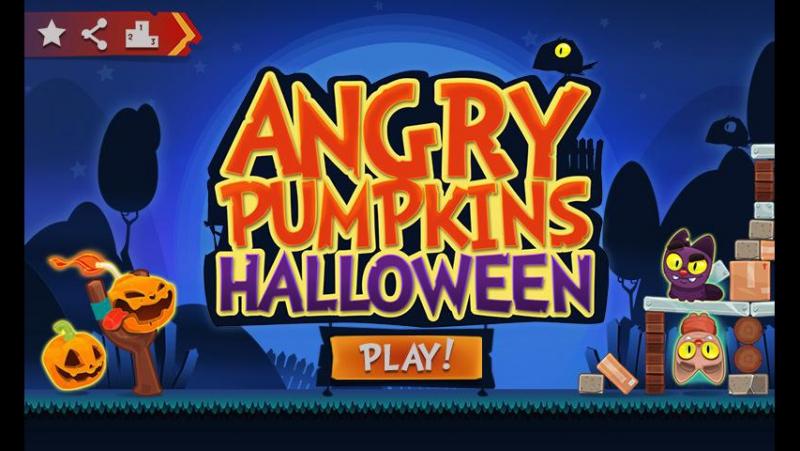 Поляковский Летсплей😻 Angry Pumpkins Halloween🎃 (Тыквы против)