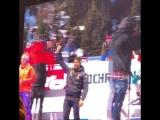 Медальная церемония награждения мужской ИГ на ЧМ в Хохфильцене. 16.02.17