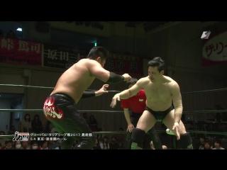 Atsushi Kotoge, Go Shiozaki vs. Maybach Taniguchi, Naomichi Marufuji (NOAH - Global Tag League 2017 - Day 8, Finals)