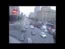 Необычная авария на Садовом кольце в Москве попала в объектив камеры наблюдения