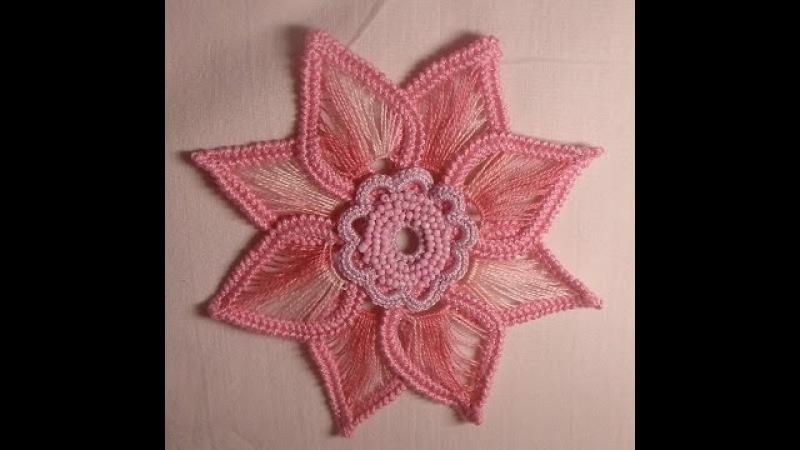 Цветок крючком - Ирландское кружево - Мотивы - flower crochet motif Irish lace