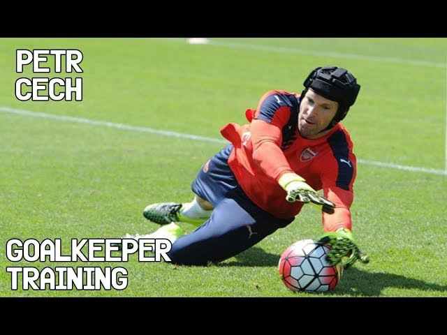 Petr Cech Goalkeeper Training
