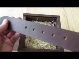 Ремень мужской кожаный Италия ручная работа Артикул 131
