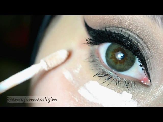 Yeşil - Kahve Tonlarında Göz Makyajı 💕 Farmasi Ürünleri İle