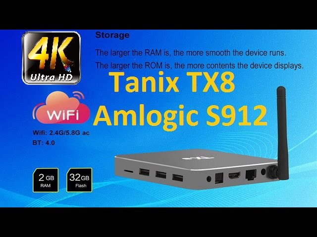 Tanix TX8 Amlogic S912 Octa Core 2GB RAM 32GB ROM TV Box