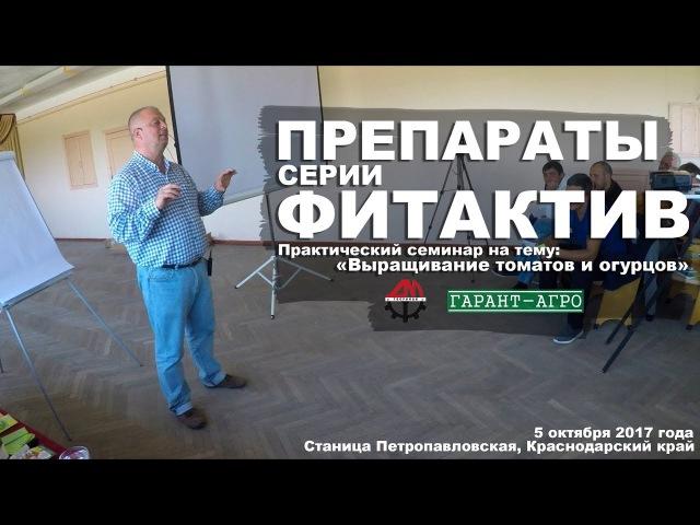 Препараты серии ФИТАКТИВ Практический семинар на тему Выращивание томатов и огурцов
