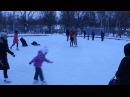 На катке в парке ВГС - 25 декабря 2016