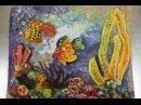 Поделки из соленого теста своими руками Панно Золотая рыбка Видео урок для детей 4 8 лет