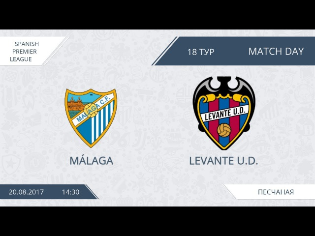 AFL 17. Spain Premier League. Day 18. Malaga-Levante U. D.