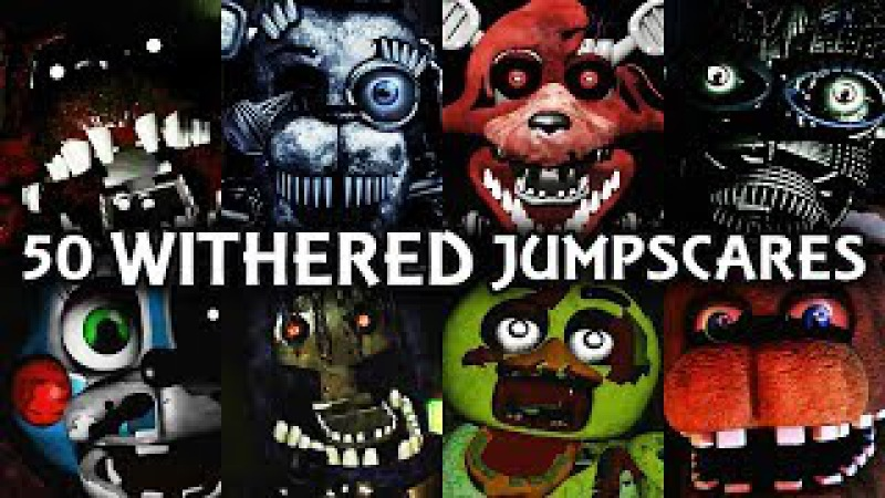 50 WITHERED JUMPSCARES! | FNAF Fangame
