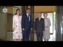 Kronprinsparret til frokost hos Japans Kejserpar