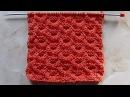 Объемный рельефный узор Вязание спицами Видеоурок 183
