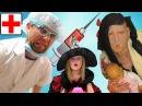 Игра доктор! Зубной врач Лечит Бабу-Ягу Ставим Уколы в Попу Стоматолог Play the Doctor