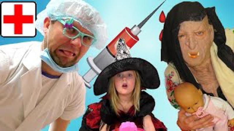 Игра доктор Зубной врач Лечит Бабу Ягу Ставим Уколы в Попу Стоматолог Play the Doctor