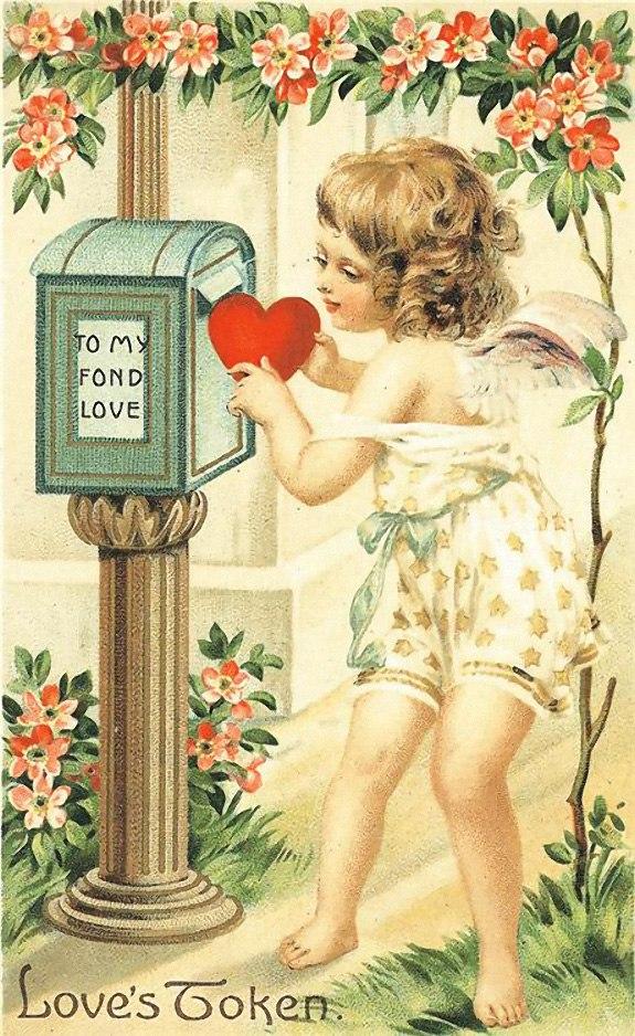 Любви проповедником был,        Влюблённых он многих женил. Монах Валентин, в твою честь У всех «валентиночки» есть.  Для тех, кто любим и влюблен, Старался, как мог, видно, он. Я всех поздравляю, и шлю С сердечком открытку свою.