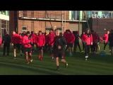Pre Southampton training