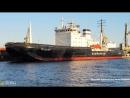 Ледокол Мудьюг извилистая река На стоянке в Морском канале Санкт Петербург