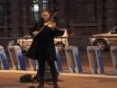 Живая музыка. Уличные музыканты Питера. Скрипка.