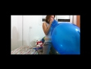 Blow some big blue balloon