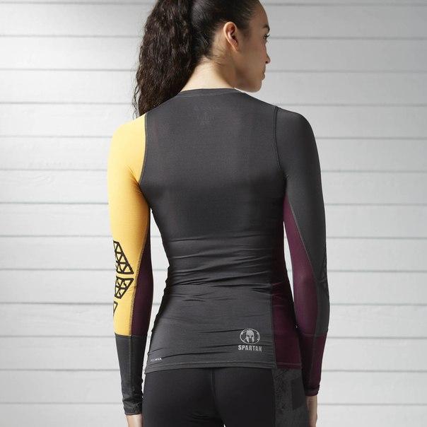 Компрессионная футболка с длинным рукавом Reebok Spartan Stealth Long Sleeve Compression