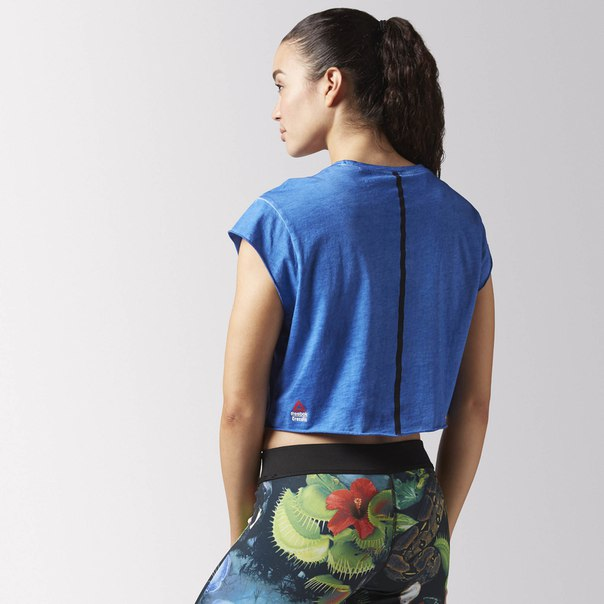 Укороченная футболка Reebok CrossFit Washed