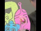 Персонажи Cartoon Network на стекле