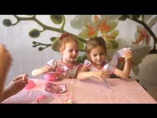 Соня, Настя и куколка Лол в шаре