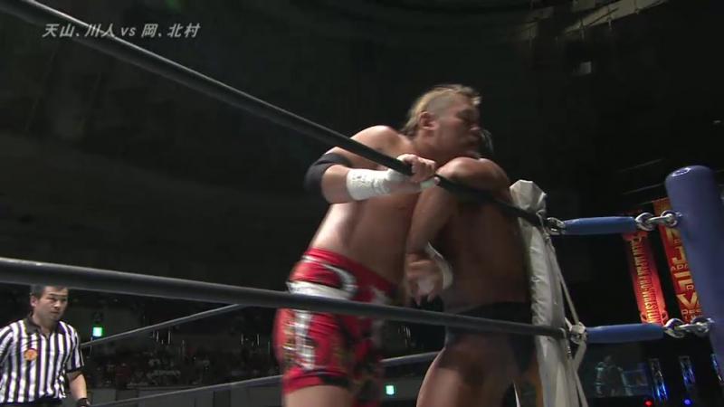 Hirai Kawato, Hiroyoshi Tenzan vs. Katsuya Kitamura, Tomoyuki Oka (NJPW - Destruction In Kobe 2017)