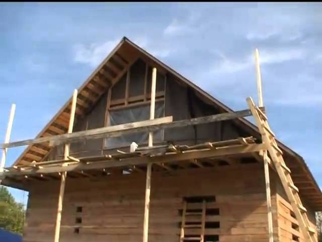Строительство дома из бруса ч.2