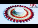 Make candle holder from old CD DIY diya stand Best out of waste Beads art