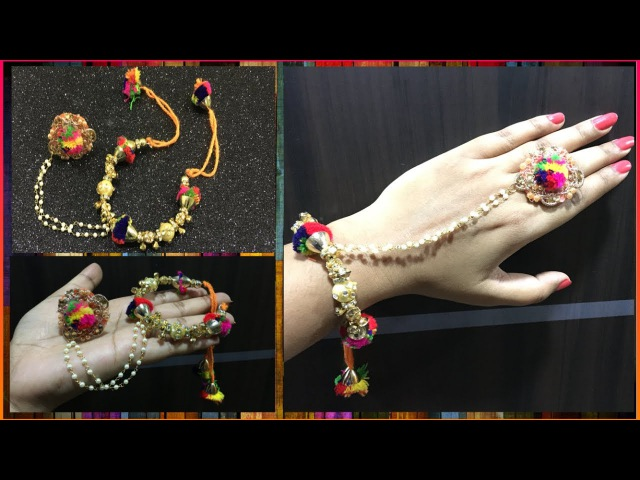 Hathphool || Hand chain with finger ring || Bridal Jewellery || DIY