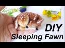 DIY NEEDLE FELT SLEEPING FAWN TUTORIAL KIT THE WISHING SHED