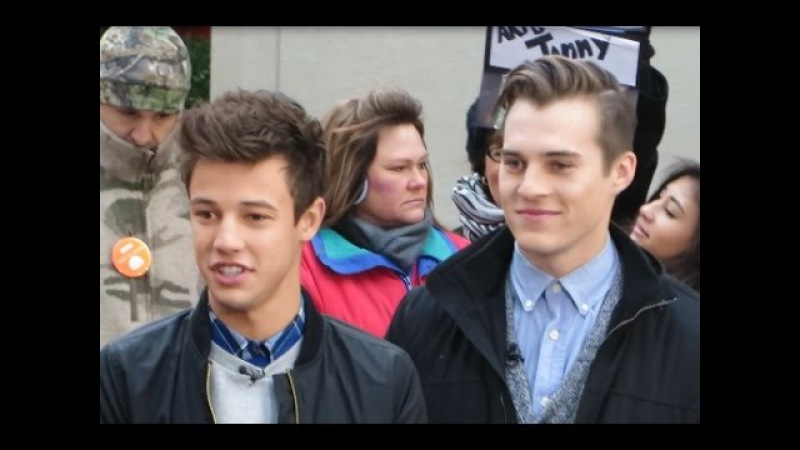 Cameron Dallas and Marcus Johns interview on The Today Show talking about their new