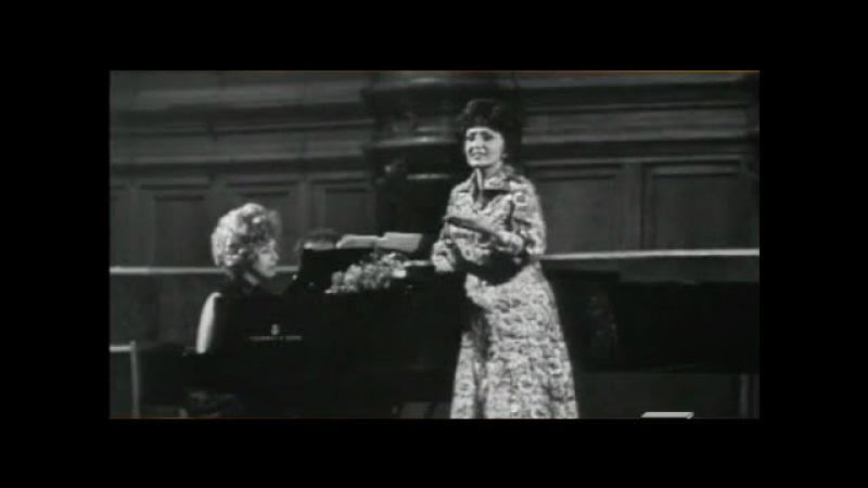 Zara Dolukhanova recital in Moscow - video 1971