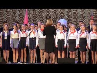 Пионерские песни Концерт в честь 100 -летия Великой Октябрьской революции в Вязь...