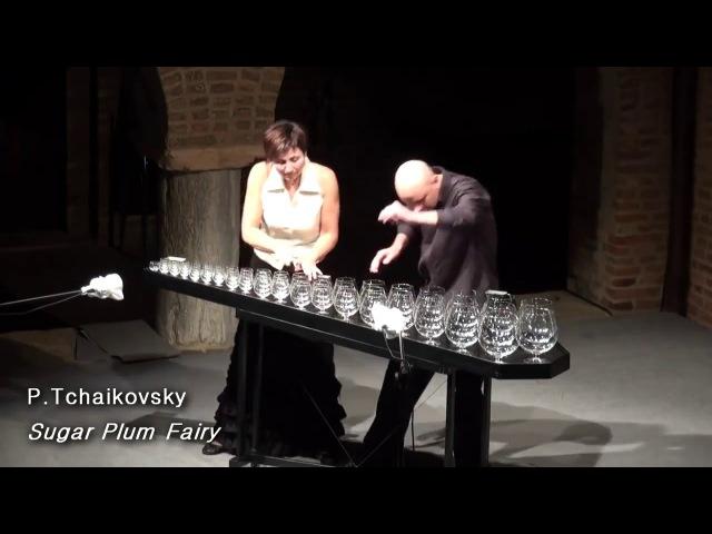 Игра на бокалах Чайковский Танец феи Драже