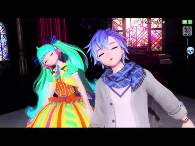 60fpsFULL [Project Diva Arcade FT] ACUTE -Reverse- (Len x Miku x Kaito)
