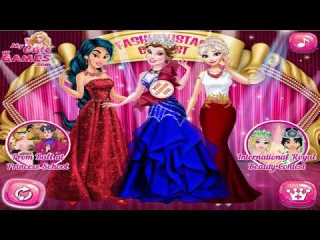 Disney Princess Games - Elsa, Jasmine, Belle - Princesses at Fashionistas Contest