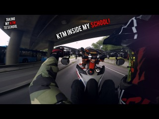 KTM TO SCHOOL | Bringing my KTM inside my school! [NTK EDIT]