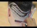 Corte de Cabelo Degrade Masculino Desenho de Pena Geazi Barbeiro