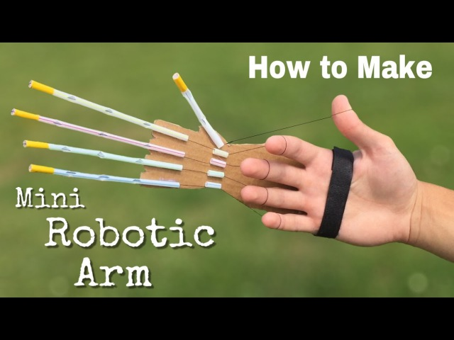 How to Make a Mini Robotic Arm at Home out of Drinking Straws and Cardboard