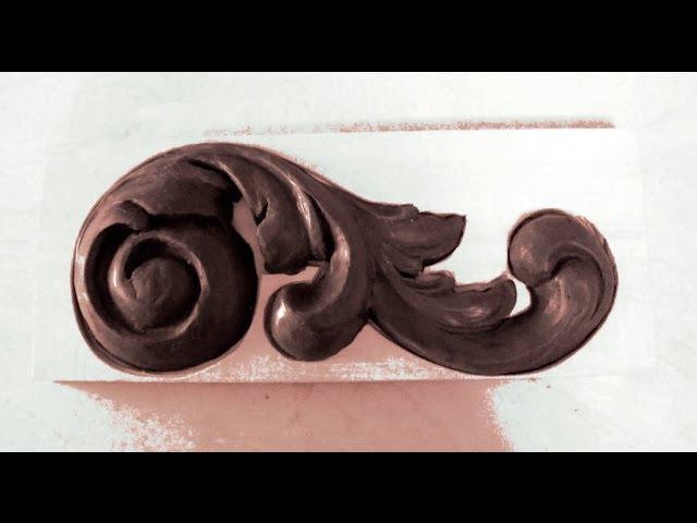 ЛЕПКА ДЕКОРАТИВНОГО ЭЛЕМЕНТА (весь процесс)/Modeling decorative elements (the whole process)