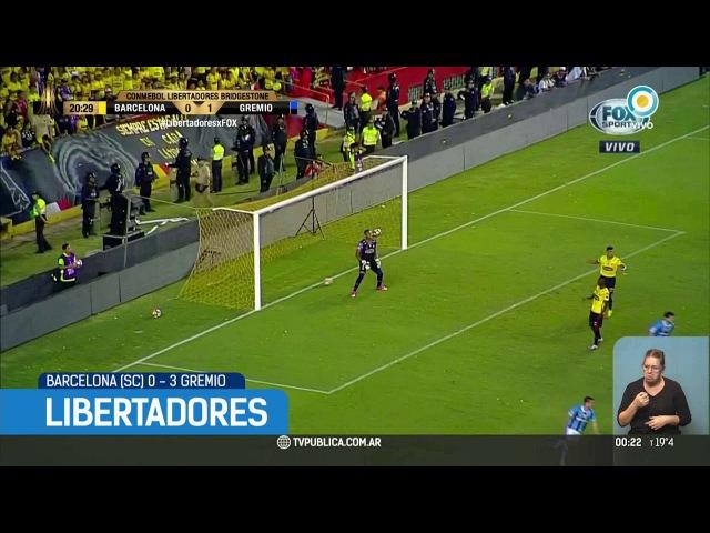 Copa Libertadores: Barcelona (SC) 0-3 Gremio   TPANoticias