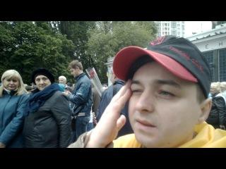 Ватний проросійський шабаш 09.05.2017. Київ, метро Арсенальна